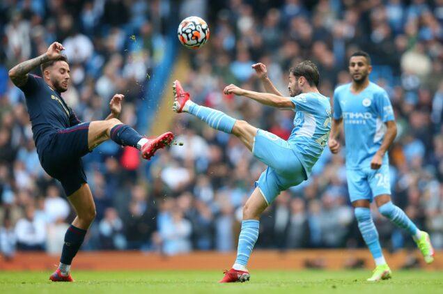 Benardo Silva in action against Burnley