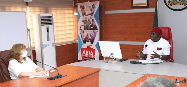 Chargé d'affaires Kathleen FitzGibbon meets Abia Governor Ikpeazu