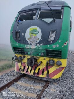 The Abuja-Kaduna train shelled by terrorists
