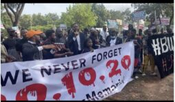#EndSARS Protesters at the Unity Fountain in Abuja
