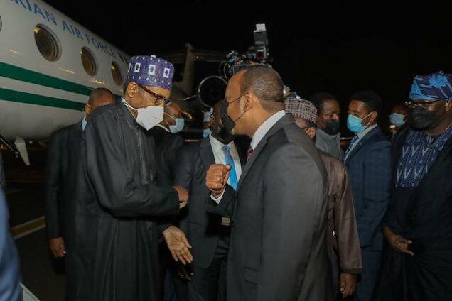 Ethiopian PM Abiy Ahmed receives Buhari in Addis