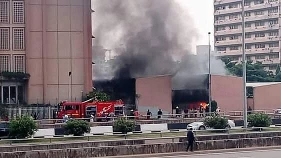 Federal Secretariat in Abuja on Fire