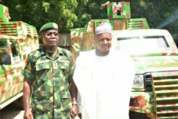Governor Bagudu and chief of army staff Lt. General Faruk Yahaya