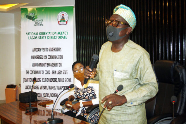 Lagos State Director of the NOA, Mr Waheed Ishola