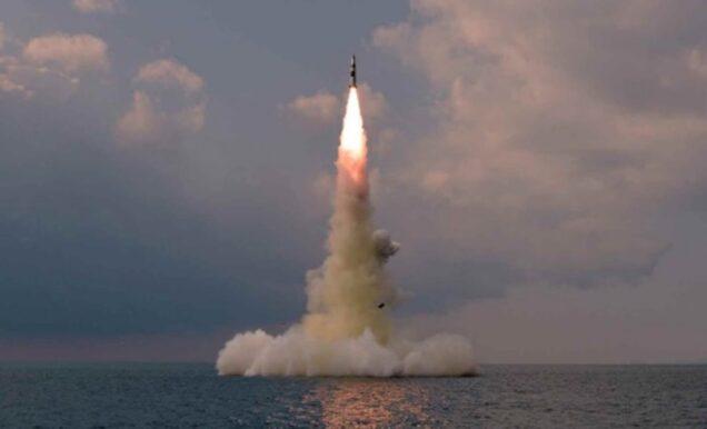 North Korea' s submarine fired ballistic missile