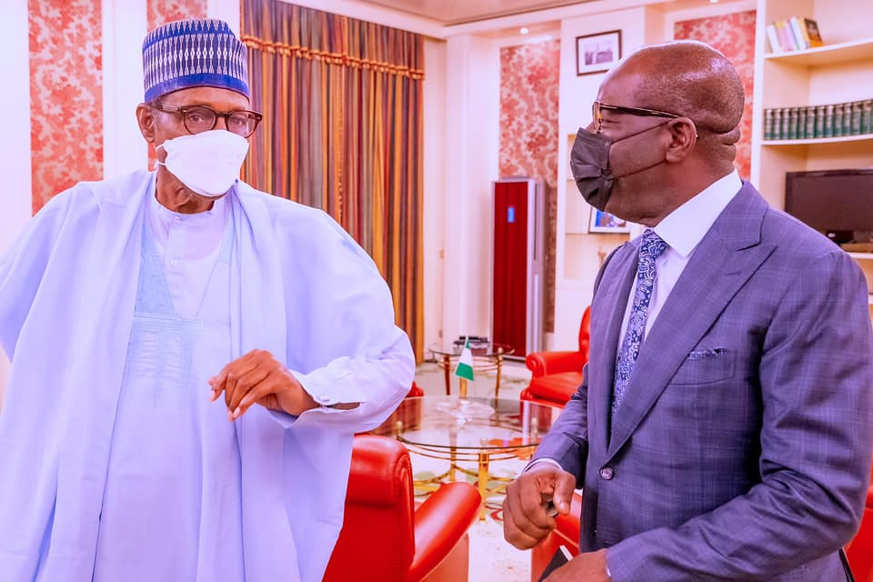 Obaseki with the president