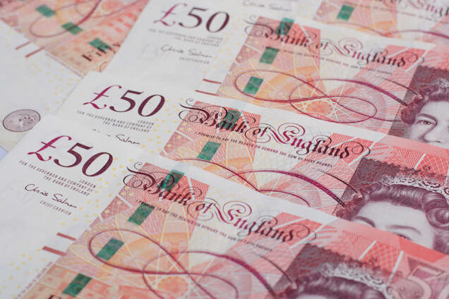 Online bank scams increasing in Britain. British pound sterling