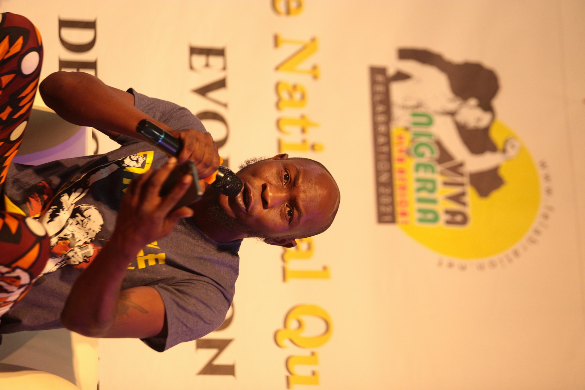Seun Anikulapo Kuti responding to questions from the audience.