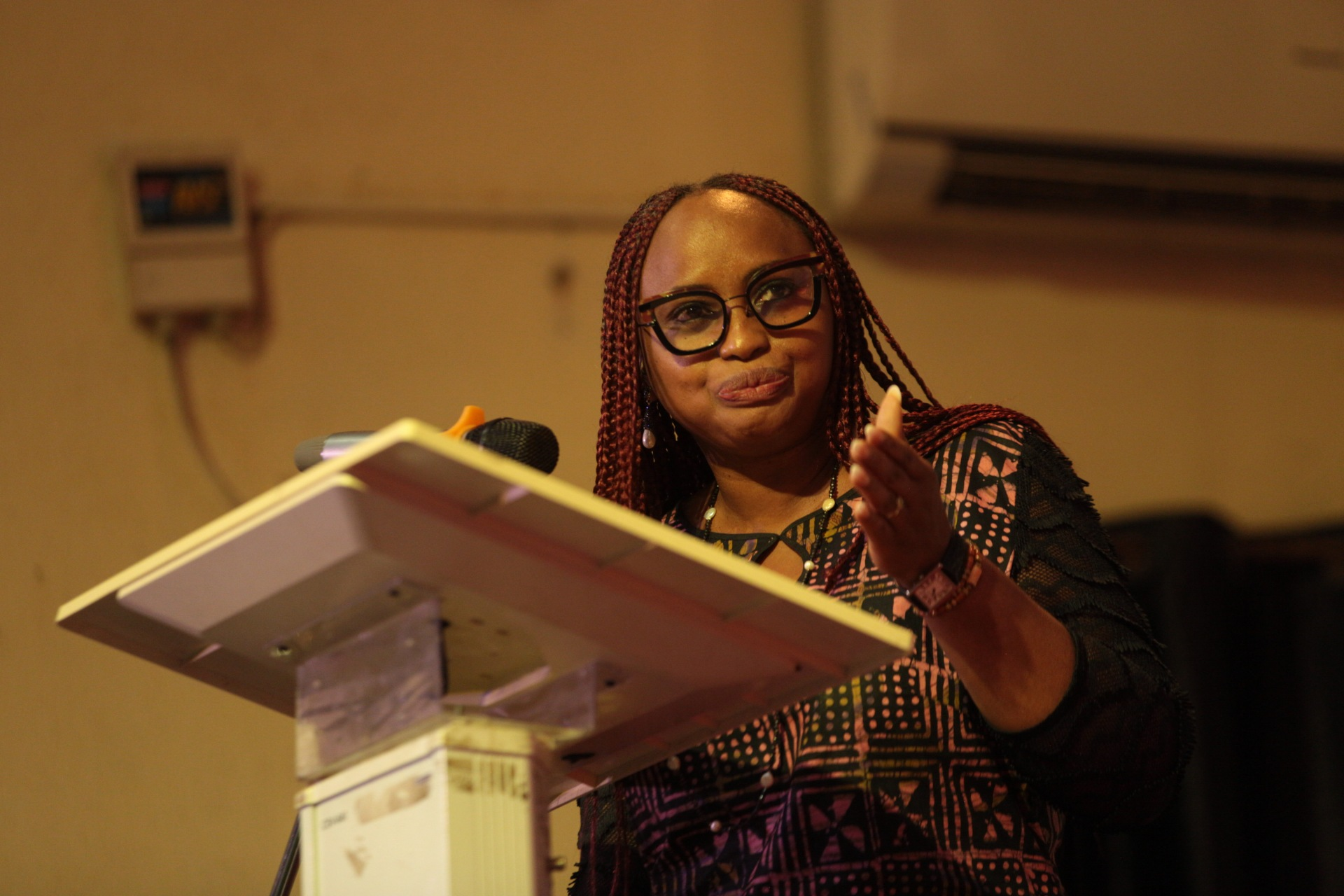 Arinola Oloko, one of the panelists at the event.