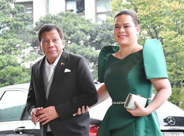 President Rodrigo Duterte and his daughter Sara Duterte-Carpio
