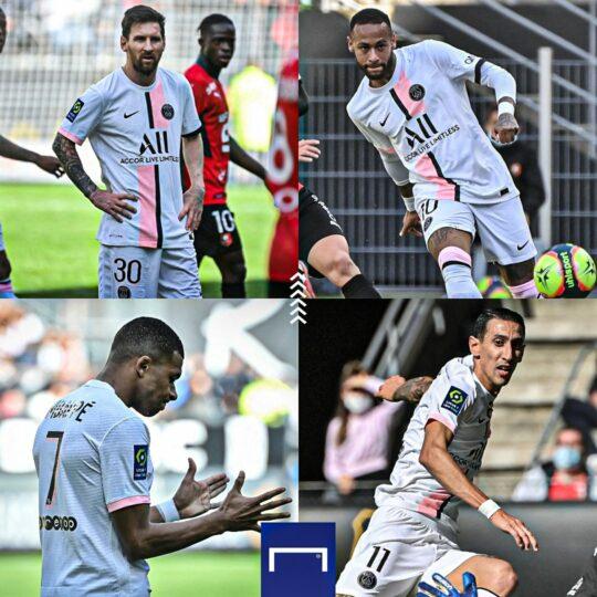 Rennes cage Messi, Mbappe, Neymar