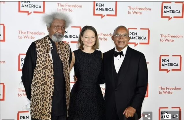 Soyinka, Jodie Foster and Henry Louis Gates Jr.