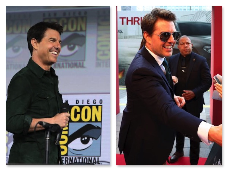 Tom Cruise in 2019 and 2018