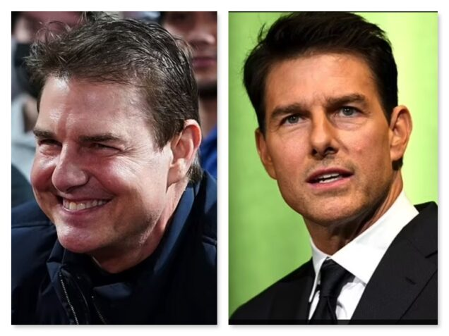 Tom Cruise in 2021 and Tom Cruise in 2019