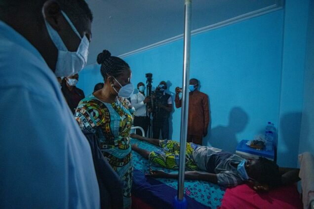 Mrs Obaseki when she visited patients who were registered for surgery at the Stella  Obasanjo Hospital, in Benin on Wednesday: She directed that   surgeries should be carried out in the VVF Centre she set up at the hospital.