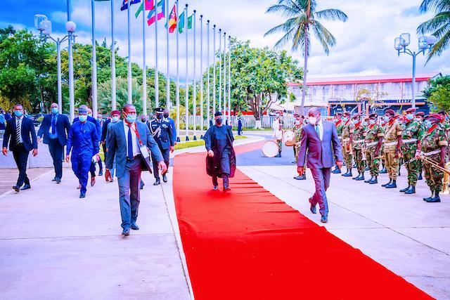 red carpet reception for VP Osinbajo
