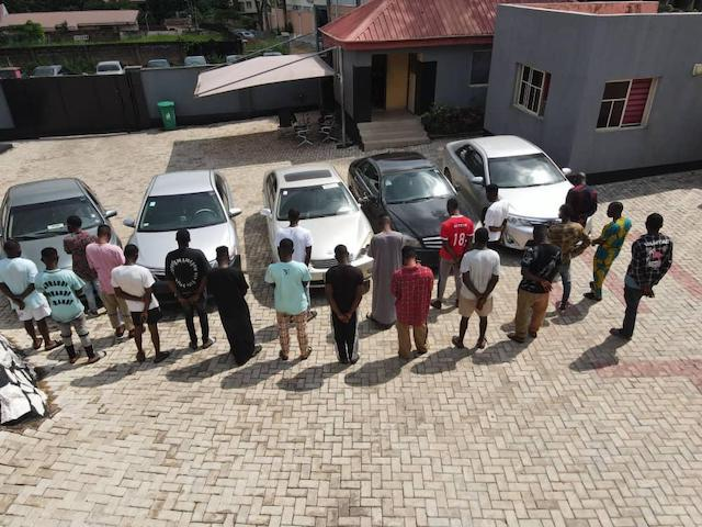 the 22 LAUTECH students arrested for Yahoo Yahoo on Tuesday
