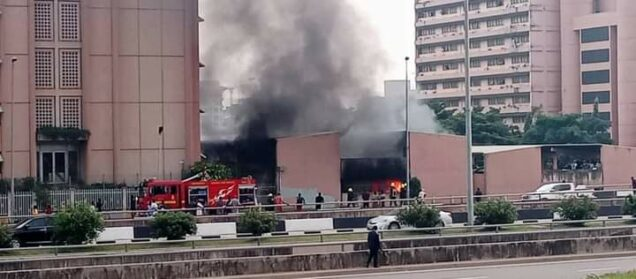 the extensive fire at the Federal Secretariat Abuja
